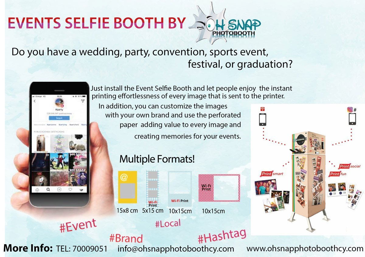 Events Selfie Booth by oh snap photobooth cyprus